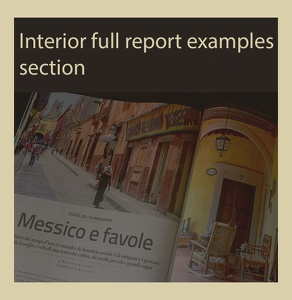 INTERIOR FULL REPORT EXAMPLES SECTION